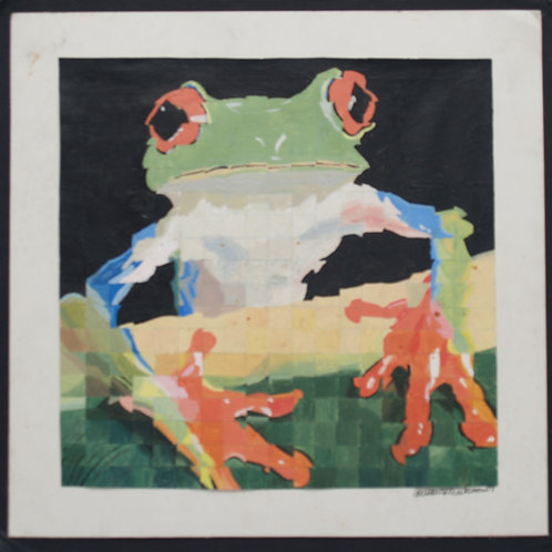 Acrylic Study of a Frog: Offset Gridding