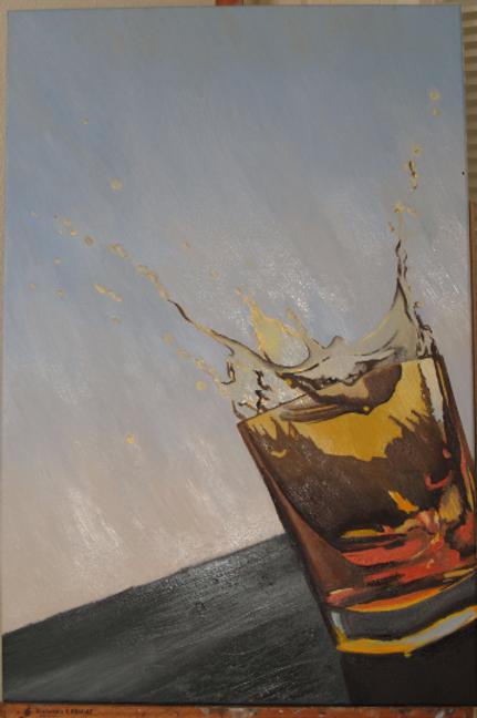 Whiskey Shot Splash