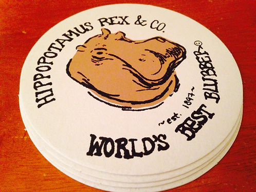 Hippo Vintage Coaster Set