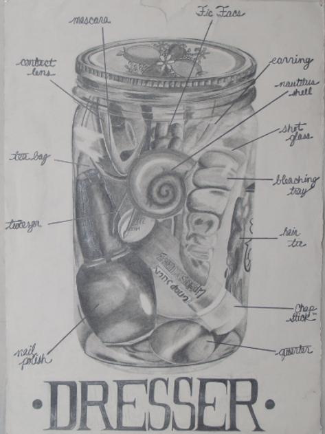 Dresser Sampler Jar