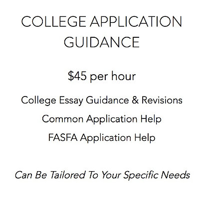 College Application Guidance