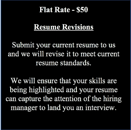 Resume Revisions & Proofreading