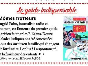 Version Femina parle du guide fait pour et par les enfants, Mômes Trotteurs Paris