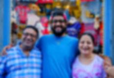 Singh family, infront of souvenir du quebec