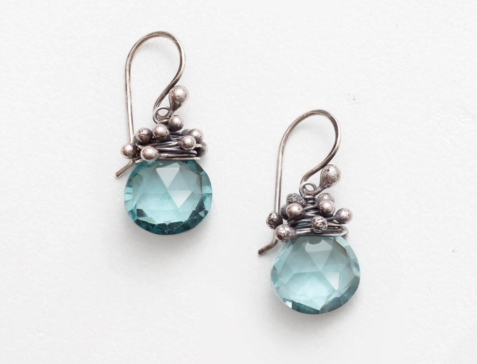 Swarm Earrings - Aqua Quartz
