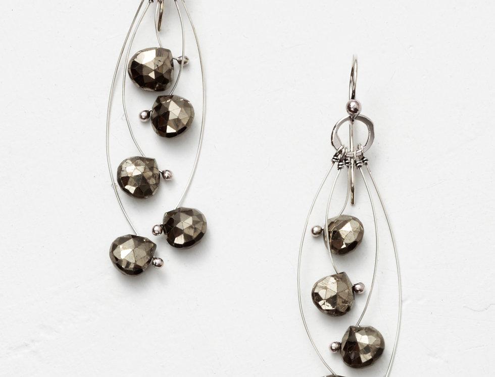 Tickle Multi Short Earrings - Pyrite