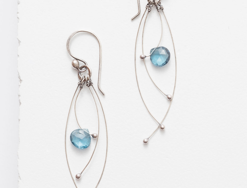 Tickle Earrings - London Blue Topaz