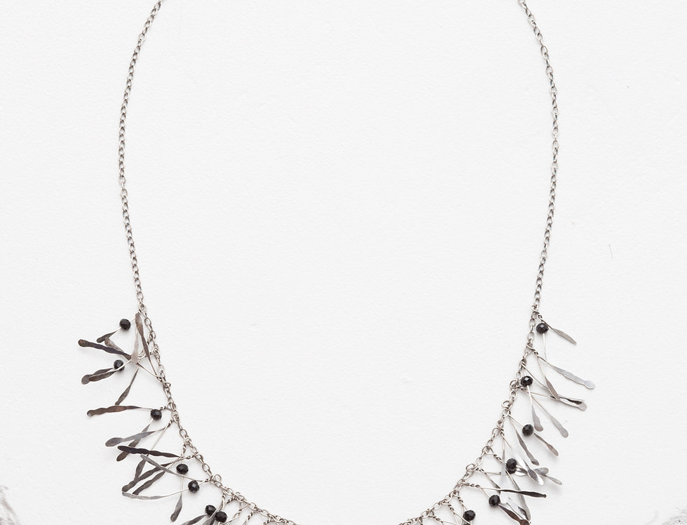 Zuzko Jewelry - Boa Necklace Black Garnet