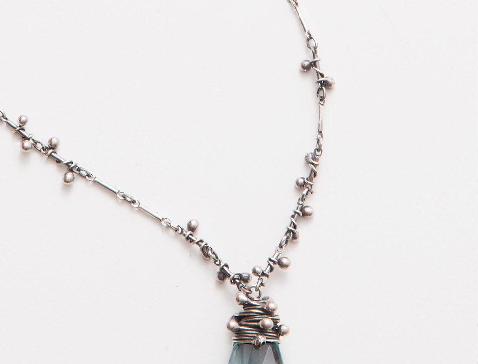 Swarm Necklace - Aqua Quartz (L)