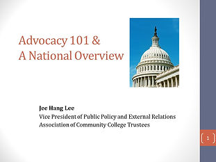 Effective Federal Advocacy for community