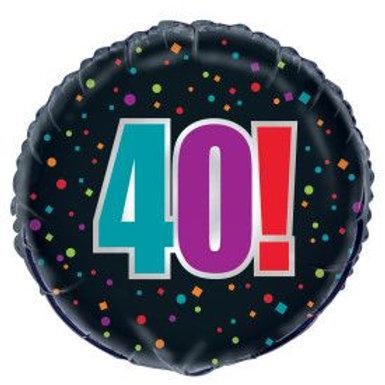 "Balloon Foil 18"" Happy Birthday 40!"