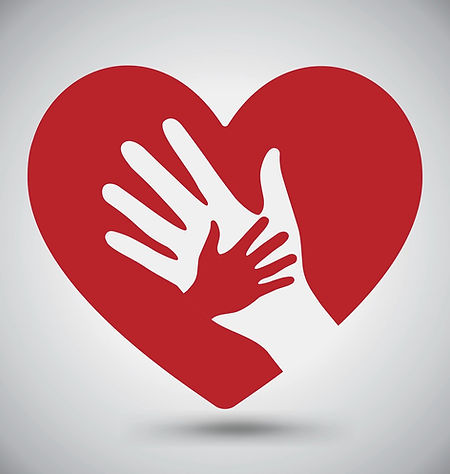 helping-hands-on-red-heart-vector-830429