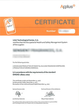 ISO cert 9001 14001 OHSAS 18001 for 2014