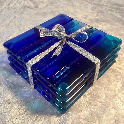 Blue Stripe Coasters
