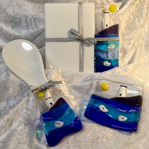 Lighthouse Spoon Rest, Teapot Stand & Dish