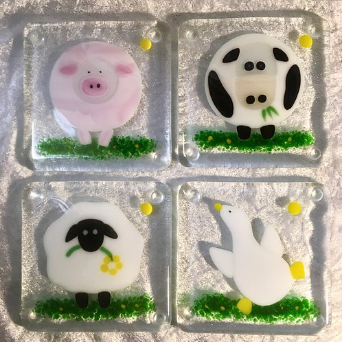 Farmyard Coasters