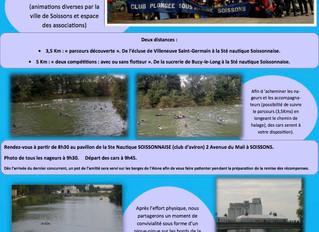Descente de l'Aisne à la nage