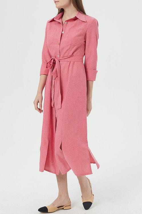 Robe en coton Athéna rouge