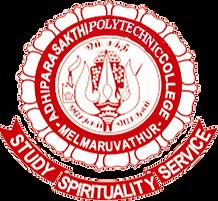Adhiparasakthi polytechnic College logo.