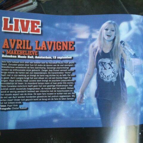 Avril Lavigne in de HMH Amsterdam