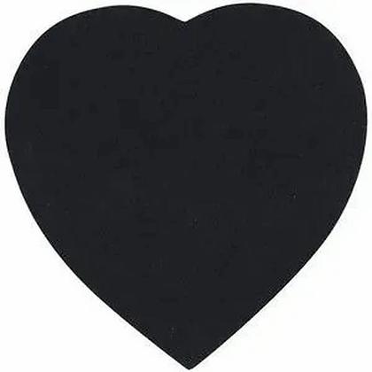 Bloco adesivo de notas - Coração Preto