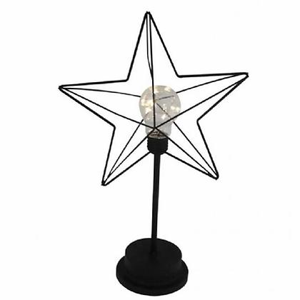 Luminária decorativa estrela -LED Aramado