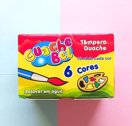 Tinta guache - Gauche bel c/ 6 cores