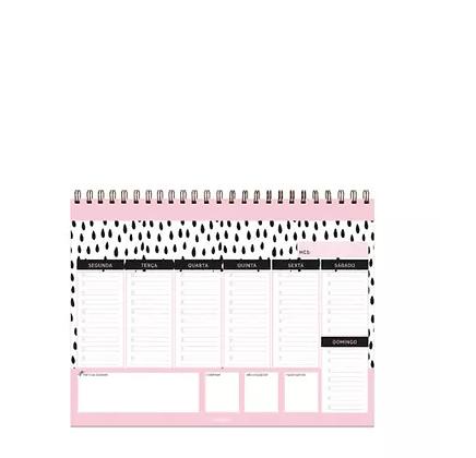 Planner de mesa semanal Boa Fortuna A4