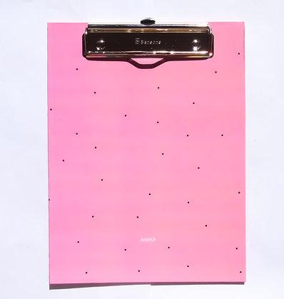 Prancheta Fazer acontecer rosa