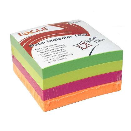Bloco de notas - Neon Pct com 4 - 400 folhas