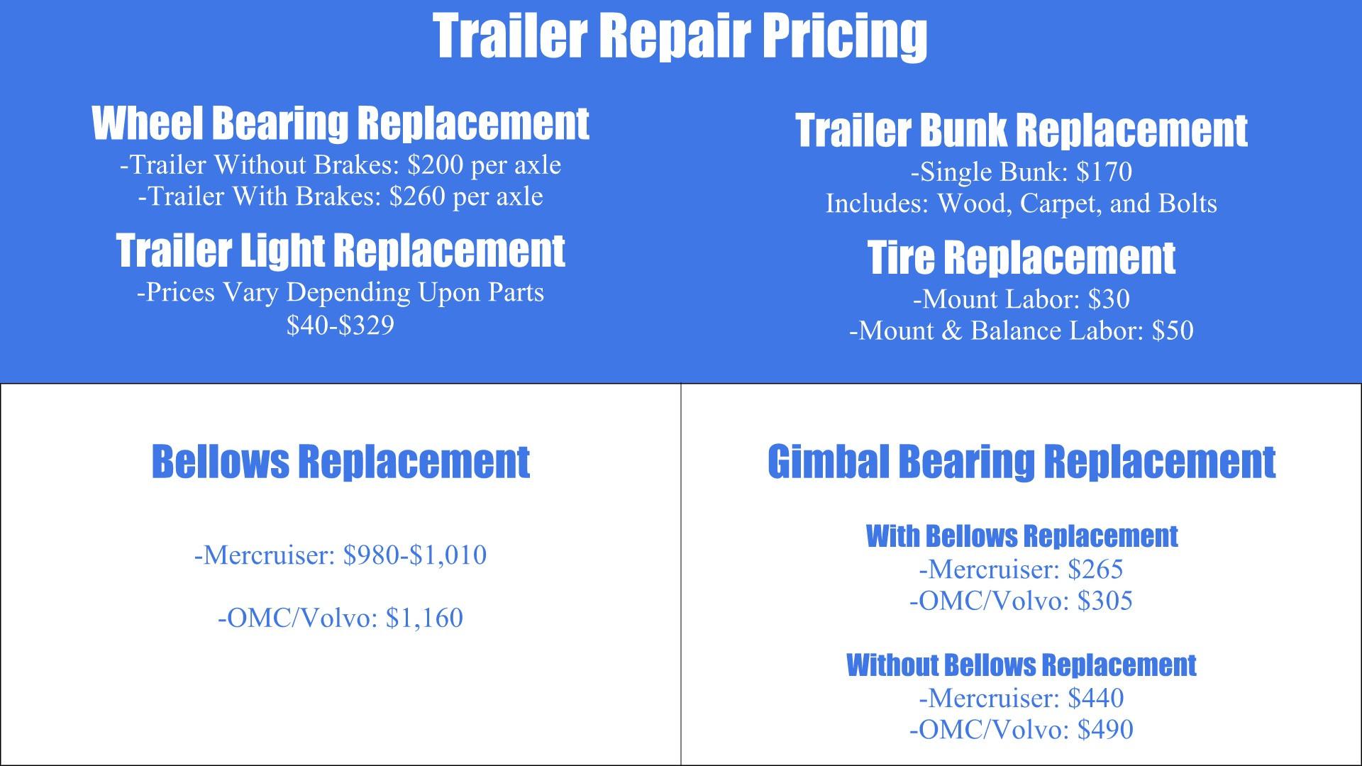 Brinson Marine Service Price