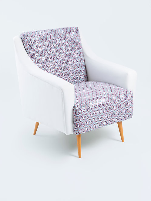 Purple Diamond - Armchair White