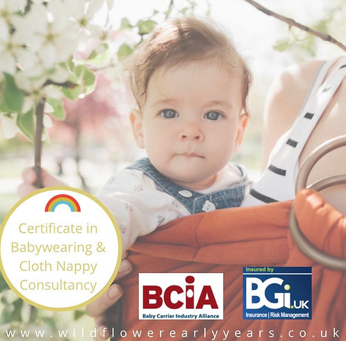 Certificate in Babywearing and Cloth Nappy Consultancy