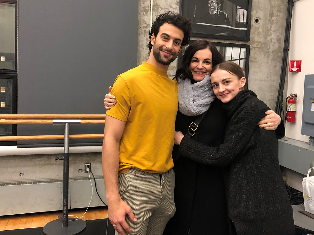 Shelly with PA Ballet dancers Arian Molina Soca and Oksana Maslova