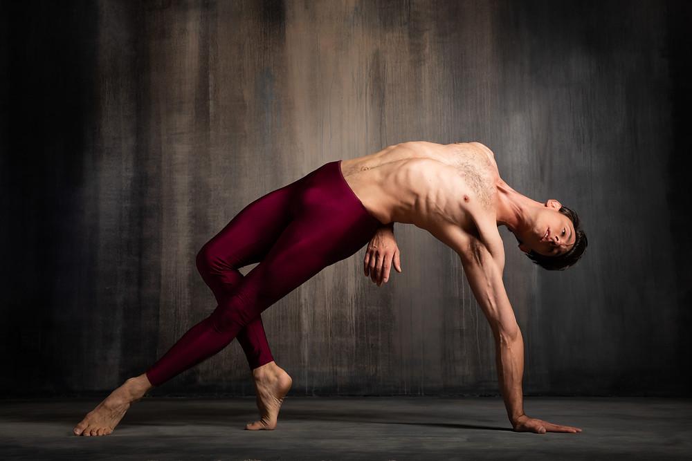 Dancer Luca Sbrizzi in a dance pose