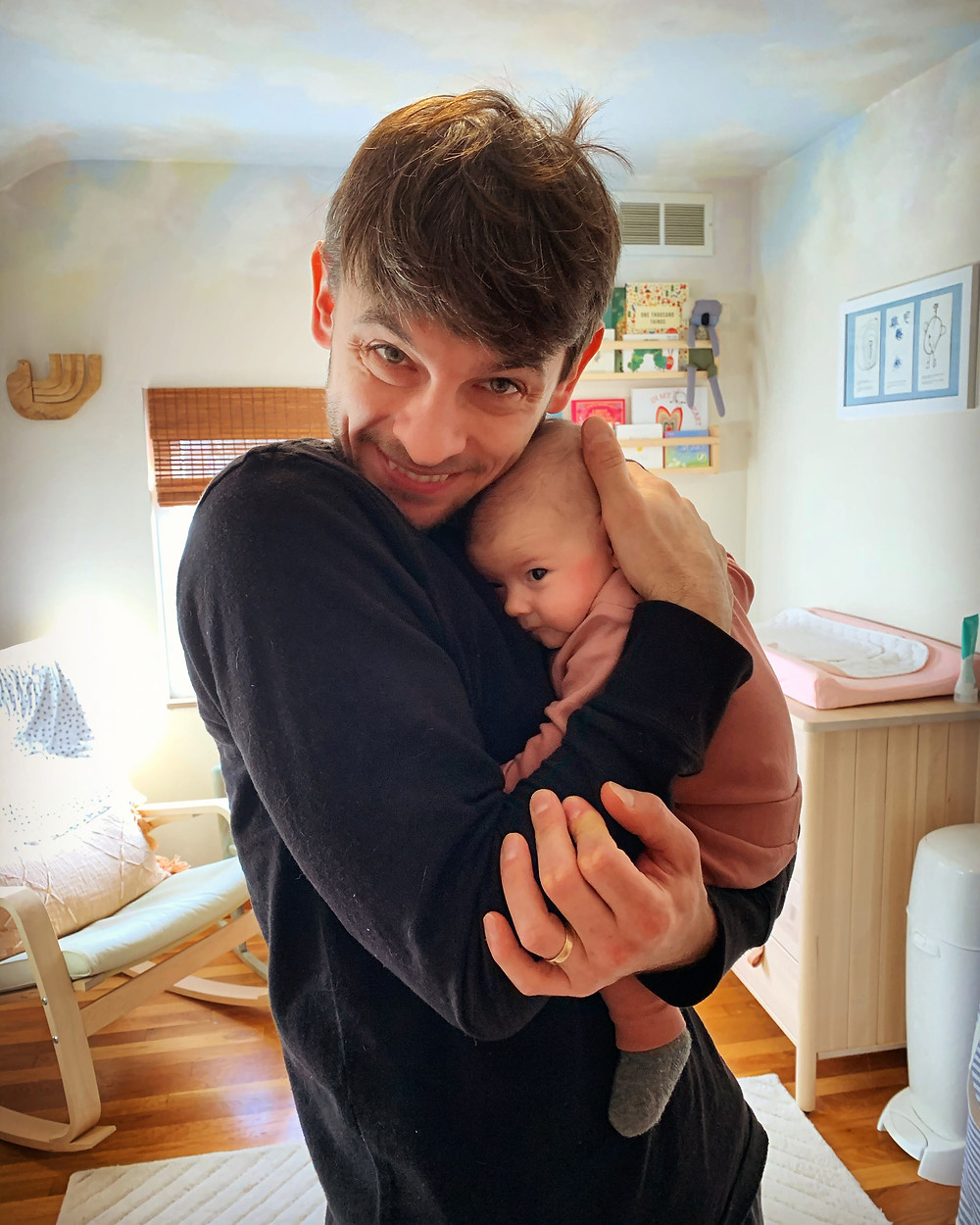 Luca with his daughter