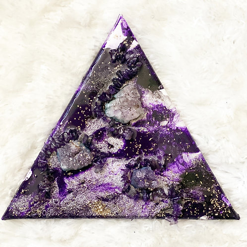 Amethyst Healing Pyramid