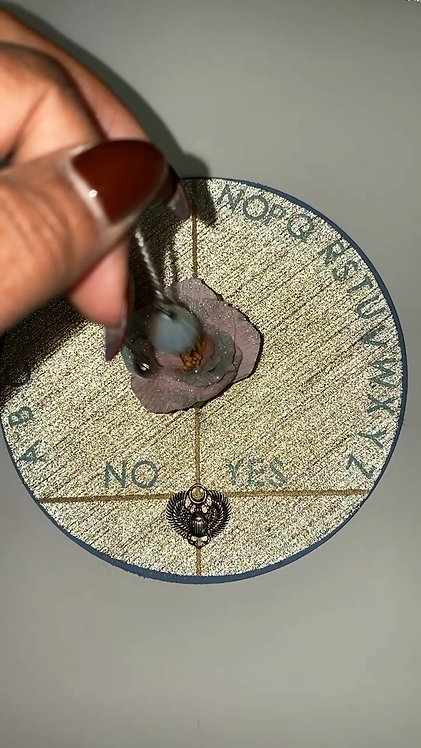 Opalite Dowsing Pendulum with Dowsing Chart