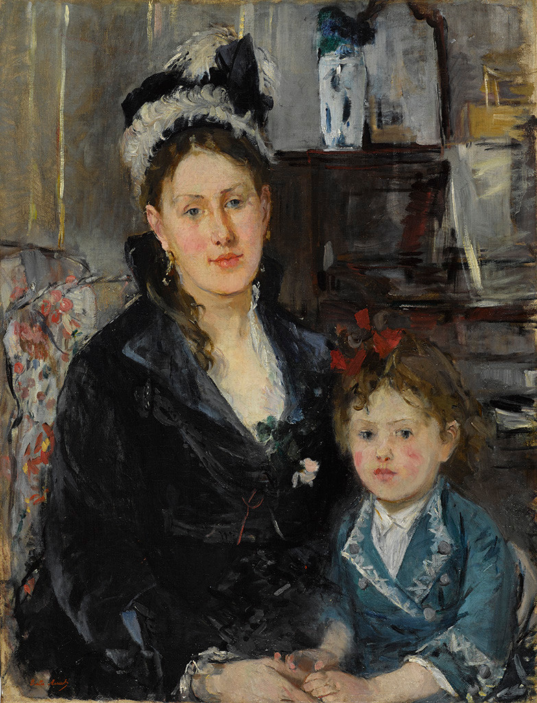 Berthe Morisot Madame Boursier and Her Daughter, c. 1873 oil on canvas Brooklyn Museum, Museum Collection Fund, 29.30 Photo: Sarah DeSantis, Brooklyn Museum