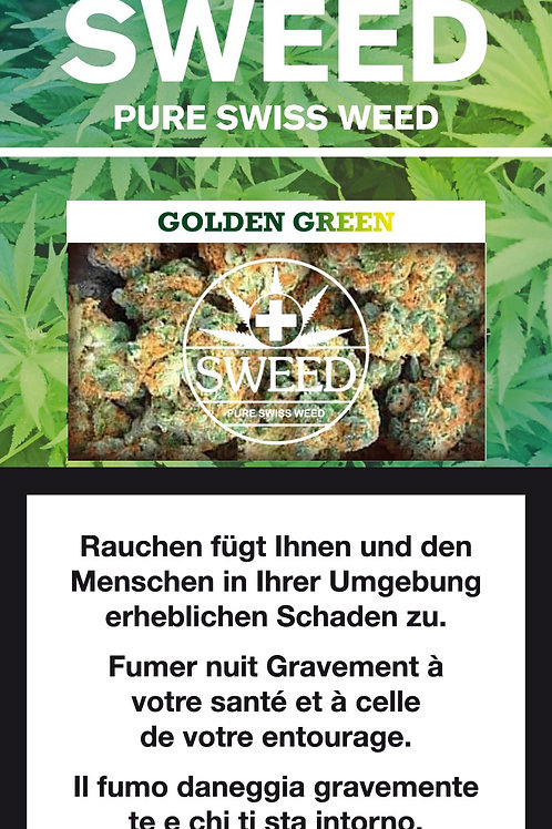 Sweed, GOLDEN GREEN, Indoor, 2 gr.
