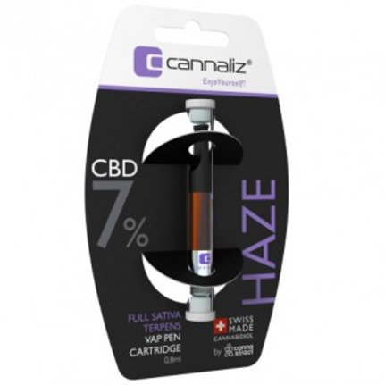 CANNALIZ CBD, E-LIQUID, CARTRIDGE HAZE 7%