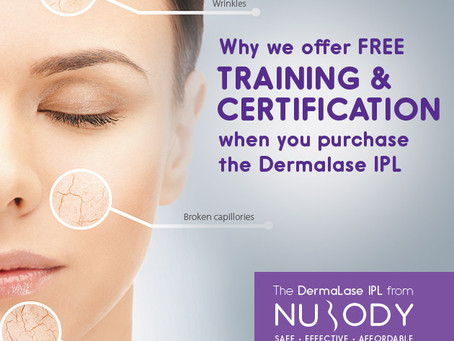 Why we offer free training & certification when you purchase the Dermalase IPL