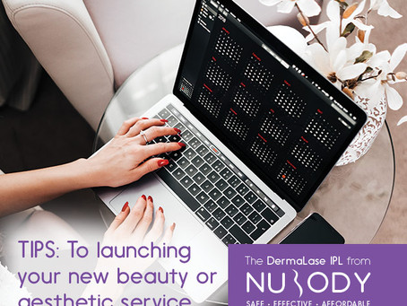 Launching a new beauty or aesthetic service