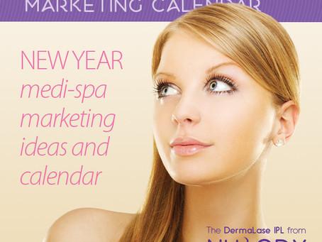 2019 Medi-spa marketing ideas and calendar