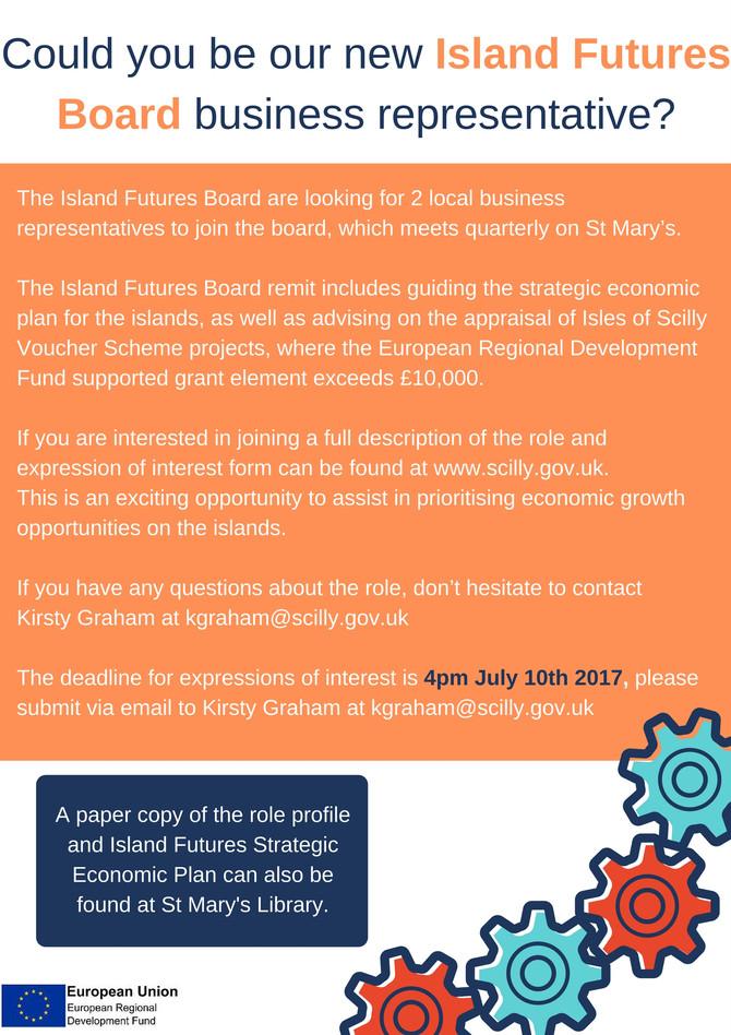Island Futures Board-Business Representatives Needed