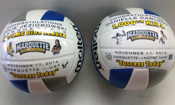 Custom volleyball with graphics