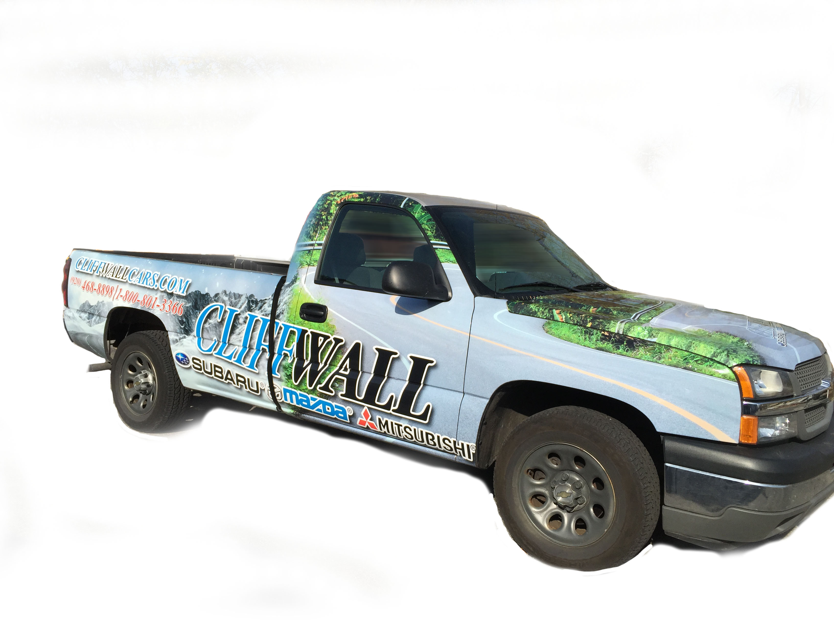 CliffWall Vehicle Wrap