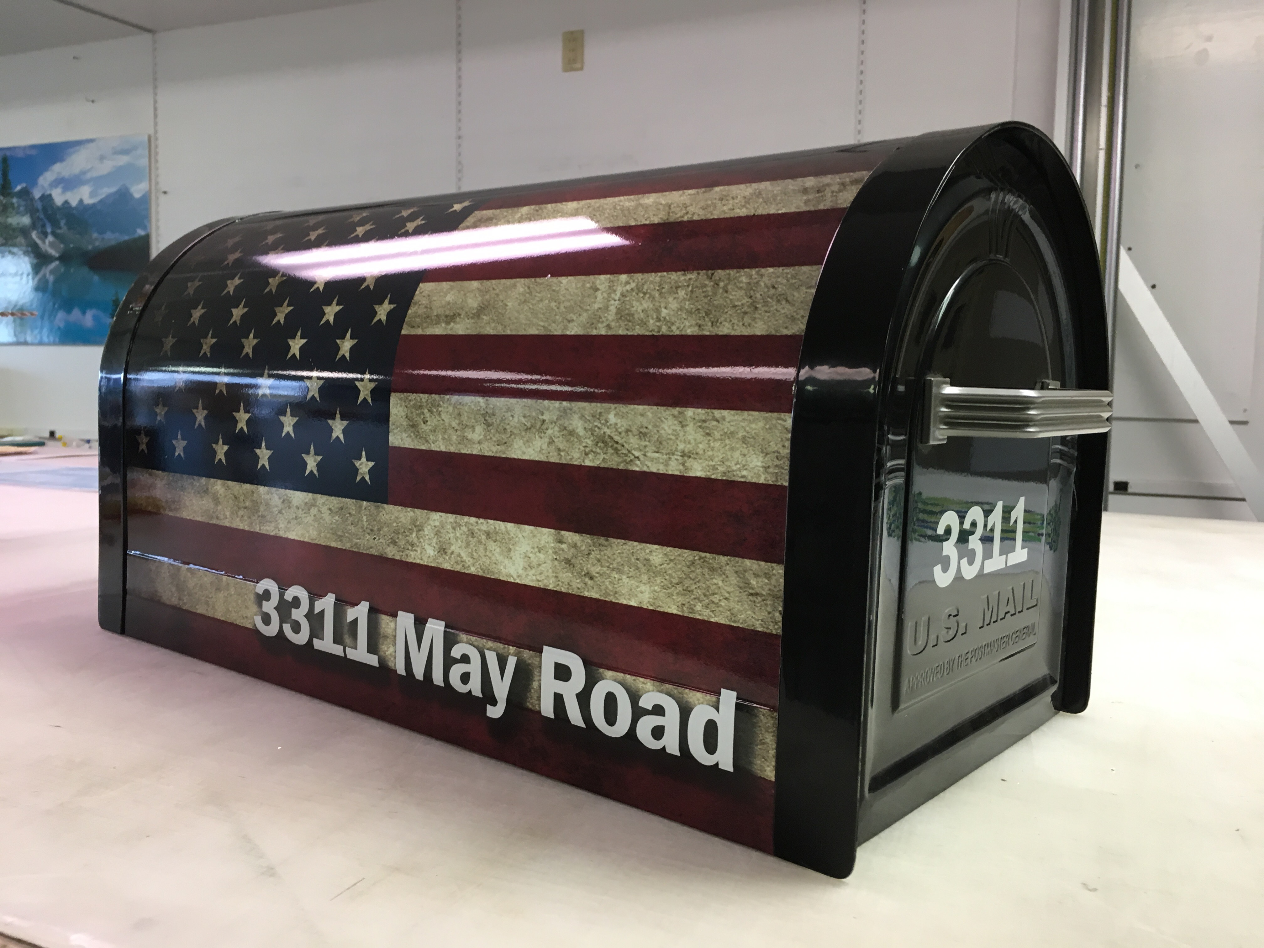 Wrapped mailbox