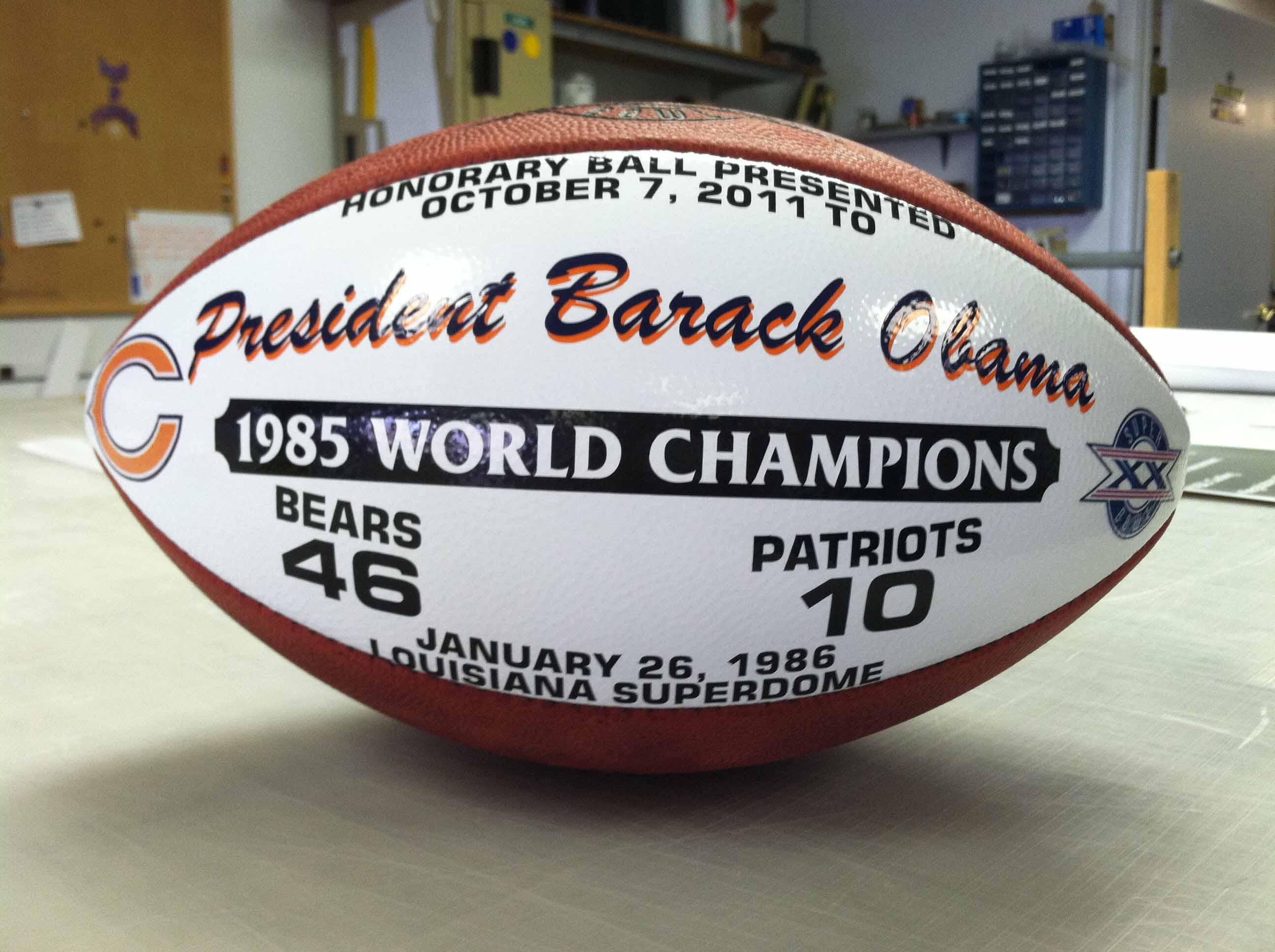 OBAMA'S GAME BALL