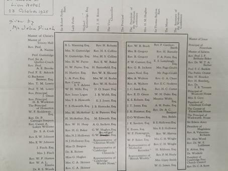 1925: Inauguration